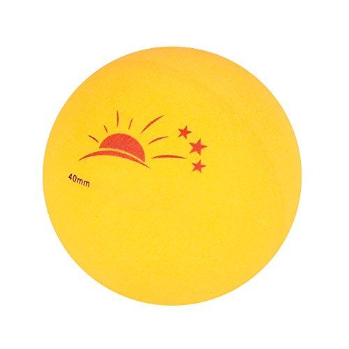 Shipenophy Pelota de Tenis de Mesa, Pelota de 3 Estrellas de un diámetro de 40 mm de rotación Constante con una práctica Caja portátil para Entretenimiento para Entrenar(Naranja, 12)