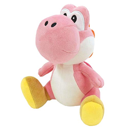 """Little Buddy 1218 Super Mario All Star Collection Pink Yoshi Plush, 7"""""""