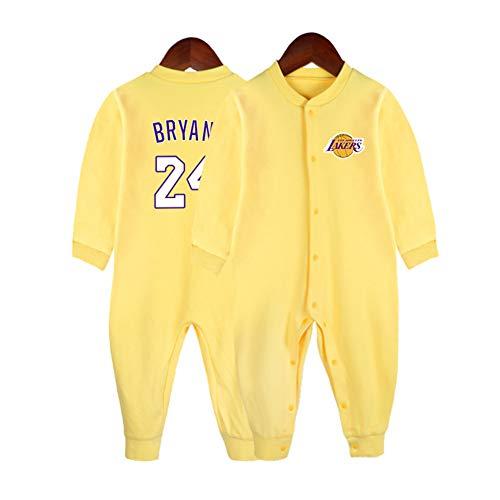 HFJLL Maillot de Basket bébé 0 à 15 Mois bébé James Bright Curry Combinaison Cardigan,Bryant-D,59CM