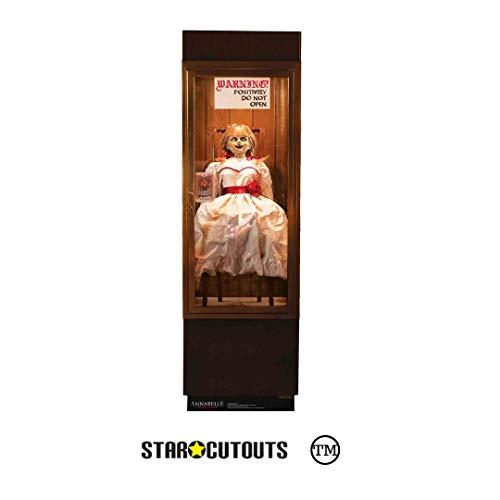 STAR CUTOUTS SC1540 Annabelle Poseído Muñeca Caso de Cristal Halloween Fiestas temáticas y Fans de la película de Terror (177 cm), Multicolor
