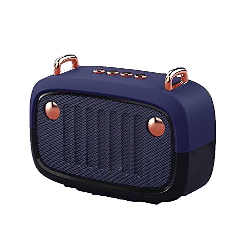 HNSMS Altavoz Bluetooth de galvanoplastia inalámbrica, Reproductor de música de subwoofer de Dibujos Animados, Adecuado para el hogar, al Aire Libre, Viajes y Deportes.