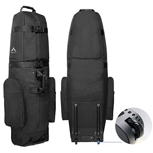Himal Golf Travel Bag - Heavy Duty 600D Polyester Oxford Wear-Resistant, Excellent Zipper Universal Size with Wheels, Soft-Sided...