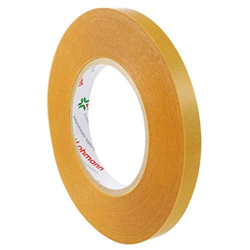 Lohmann Duplocoll 378 FG | Universalklebeband | Doppelseitig | 50 m | transparent | Extra stark klebend | Robust, strapazierfähig und Witterungsbeständig | Universelles Klebeband / 12 mm
