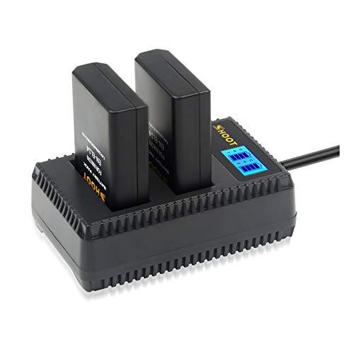 SHOOT Baterías EN-EL14 EN-EL14a de Repuesto (2-Pack) con Cargador Inteligete Pantalla LCD...