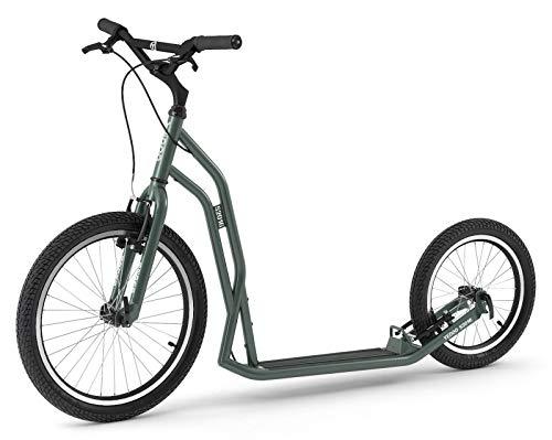 Yedoo Steel Scooter S2016 Monopattino 20/16 pollici V-Brake freni a cerchione verde per ragazzi e adulti
