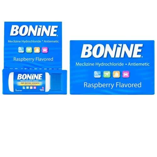 Bonine Motion Sickness Relief Chewable Tablets, Raspberry 16 + 12 ct, 2 Piece Assortment