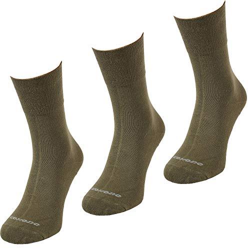 Comodo 3 Pares de Calcetines de Caza | Mujeres/Hombres | Pesca | Deportes | Anti-Mosquitos | 65% Lana Merino | SMP1 | Khaki | Tamaño: 35-38