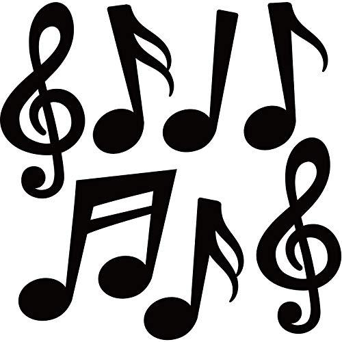 40 Recortes de Notas Musicales Silueta de Notas Musicales para Decoración de Pared de Casa de Arte de Tablón de Anuncios de Escuela Baby Shower Cumpleaños Fiesta de Tema de Concierto de Música