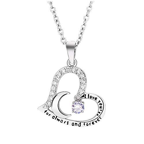 SDCAJA necklace for women Birthday Stone Small Pendant with Czech Diamonds Twelve Birthday Stone Pendant Necklace Female Cold Wind Super Celestial Necklace Romantic Sweet Ladies Explosive Jewelry gift