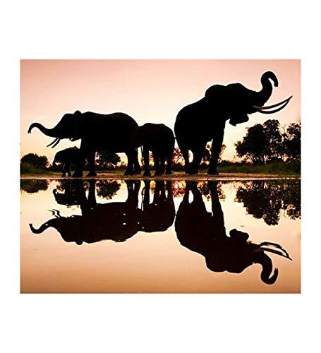 Puzzle 1000 Piezas para Adultos,Animales Paisaje Elefantes,Los Puzzles De Madera, Rompecabezas Juegos para La Familia, Brain Challenge Rompecabezas para Niños, Juegos De Matriz-Subordinada, Intelige