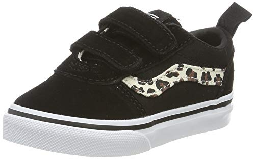 Vans Ward V-Velcro Suede, Zapatillas Unisex bebé, Negro ((Animal) Black/True White V2p), 33.5 EU