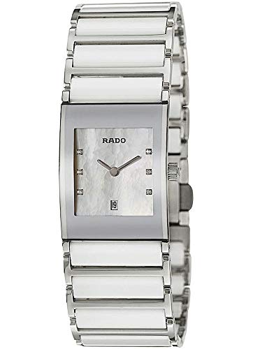 Rado Damen-Armbanduhr Integral Jubile mit Diamanten Datum Analog Quarz R20746901