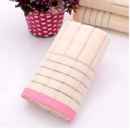 AnnQing Toalla de baño Inglaterra Toalla de algodón a Rayas Simples Playa Sol Natación Toalla Caliente Gimnasio Yoga Toalla de baño Regalos 40x95cm-rosa