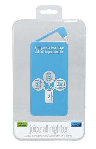 Juice - Caricabatteria d'emergenza, da 4000 mAh, per iPod e iPhone, colore blu