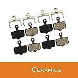 4 pares de pastillas de freno de cerámica para bicicleta para Avid R/CR/CR-MAG / E1 / 3/5/7/9 X0 XX DB1 / 3/5 Dualtron Thunder