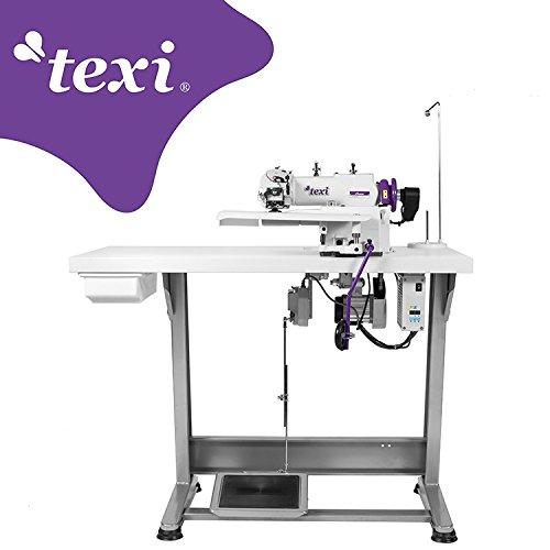 TEXI Industrie blindsteek, naaimachine, zoom - compleet (met tafel en frame)