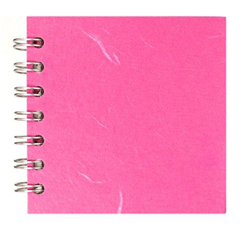 Pink Pig-Cuaderno 105 x 105 mmcuadrado, papel de dibujo reciclado marrón, 35hojas, color Rosa brillante