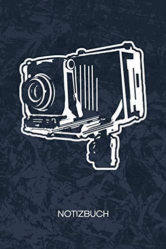 NOTIZBUCH: A5 Kariert - Oldschool Fotograf Heft - Retro Notizheft 120 Seiten KARO - 90er Kamera Notizblock Antike Kamera Motiv - 90er Kind Geschenk