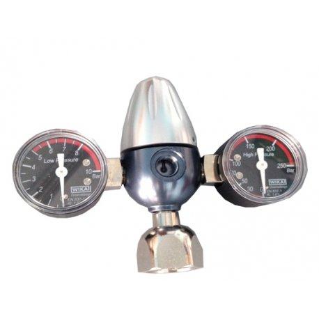 Riduttore di pressione Co2 per bombole ricaricabili (2 manometri)