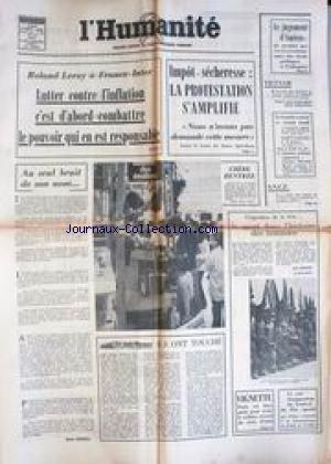 Humanite L Du 02 09 1976 Le Jugement Damiens Vietnam S N C F Roland Leroy Linflation Impot Secheresse Vignette R Andrieu