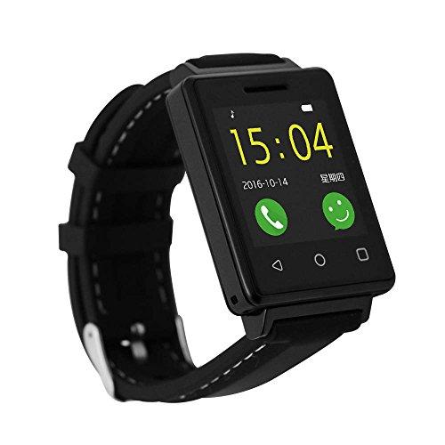Bluetooth Watch argento/orologio da polso frequenza cardiaca/light-sensor, sleep monitor, orologio da polso Android g7p-e fitness tracker sonno monitor Belt–Blacksmart sport Watch con pedometro