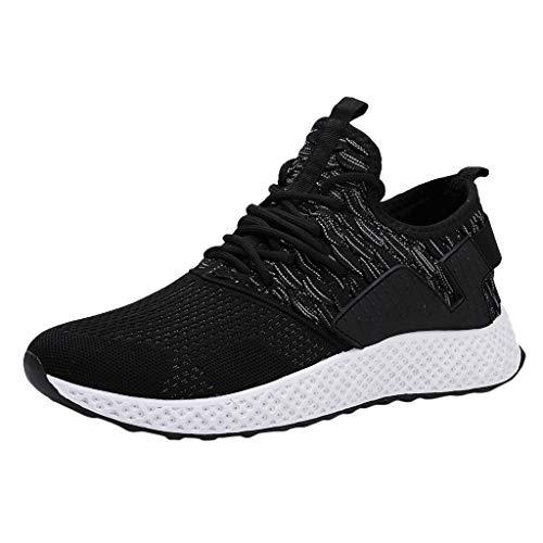 AIni Herren Schuhe,2019 Neuer Heißer Beiläufiges Mode Atmungsaktives Mesh im Freien Bequeme Laufschuhe Turnschuhe Partyschuhe Freizeitschuhe(41,Grau)