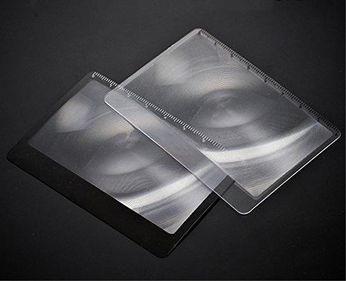 RGRGH Transparant Credit Card 3 X Vergrootglas Outdoor Pocket HD Lezen Bril