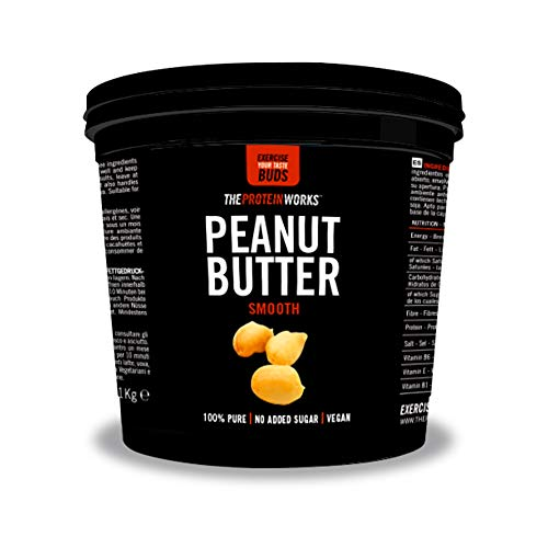 THE PROTEIN WORKS Peanut Butter | 100% Natural Roasted Peanut Butter | No Added Sugar | Smooth | 1 kg