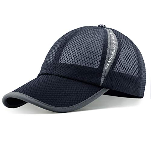 ELLEWIN Unisex Breathable Quick Dry Mesh Baseball Cap Running hat