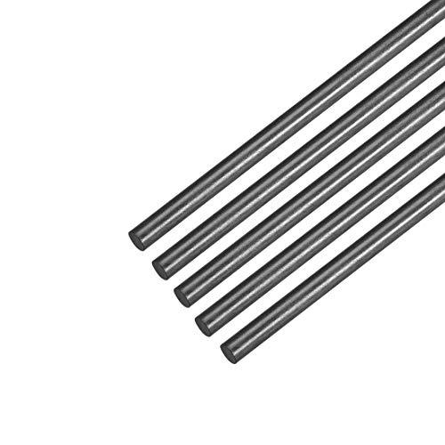 Awclub 3mm Carbon Fiber Rod for RC Airplane Matte Pole US, 400mm 15.7inch, 5pcs