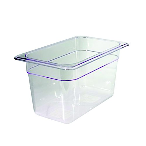 Decora 1/4 en Polycarbonate Transparent récipient, Transparent, 26.5 x 16.2 x 6.5 cm