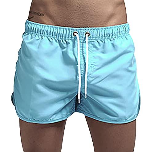 Pantalones Cortos Pantalones Anchos Fuera De Pantalones Cortos Hombre Sexy Shorts Hombre Pantalones Cortos con Bolsillos Pantalones Cortos Hombre Negro Pantalones Slim Fit Azul Luna L