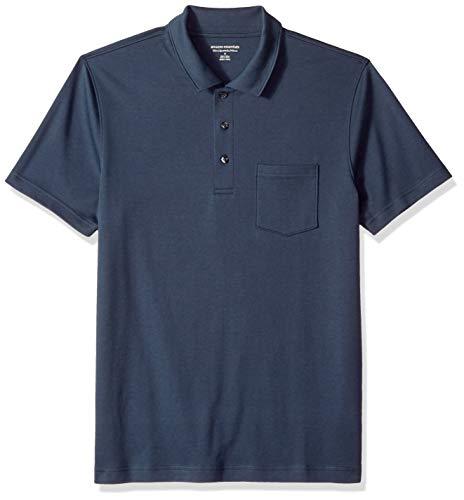 Amazon Essentials Men's Slim-Fit Pocket Jersey Polo, Navy, XX-Large