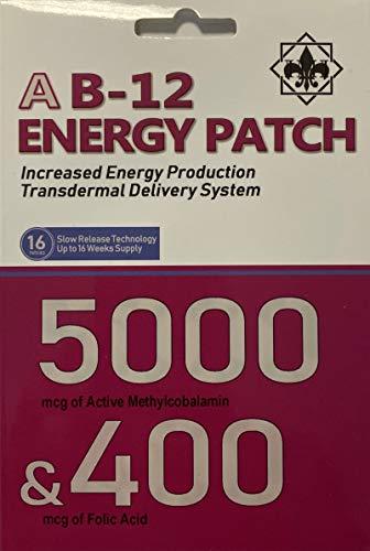 Vitamin B12 Patch High Strength 5000mcg & 400mcg Folic Acid