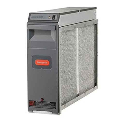 """Honeywell F300E1019 Electronic Air Cleaner, 16"""" x 25"""" with Performance Enhancing Post-Filter,Gray"""