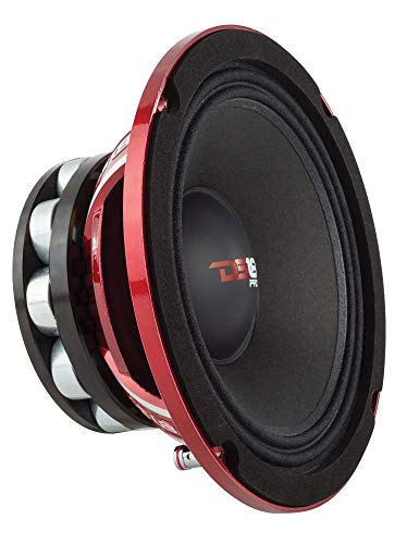 "DS18 PRO-NEO6R Loudspeaker - 6.5"", Midrange, Red Aluminum Basket, 600W Max, 300W RMS, 4 Ohms, Neodymium Rings Magnet - The Most Elegant Neodymium Full Range Loudspeakers Available"