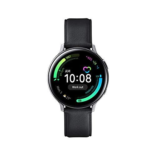Samsung Galaxy Watch Active2 Smartwatch Bluetooth 44 mm in Acciaio Inossidabile e Cinturino in Pelle, con GPS, Sensore di Frequenza Cardiaca, Tracker Allenamento, IP68, Silver, Versione Italiana