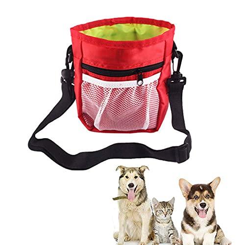 Caminar cachorro bolsa, bolsa de golosina para animales domésticos, perros Treat Bolsas, Snack entrenamiento del perro del perrito bolsa, caminar perro bolsa, construido en el impulso del dispensador