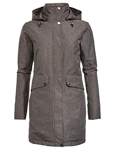 VAUDE Damen Limford Coat, Mantel Jacke, moondust, 40 (4XL)
