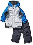 LONDON FOG Boys' Toddler 2-Piece Snow Pant & Jacket Snowsuit, Blue and Pants, 2T