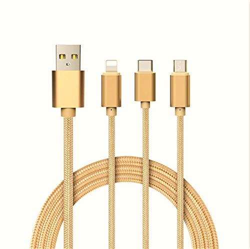 Cable 3 en 1 para Alcatel 1X 2019 Android, Apple & Type...