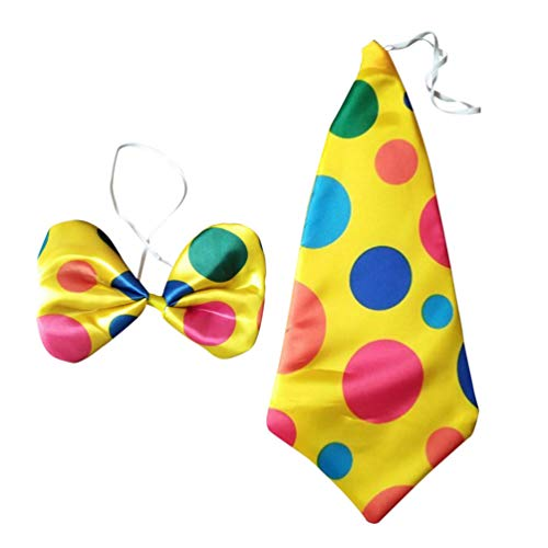 Amosfun corbata de payaso y pajarita disfraz de payaso de carnaval traje de payaso para fiesta de disfraces de circo festival 2 piezas