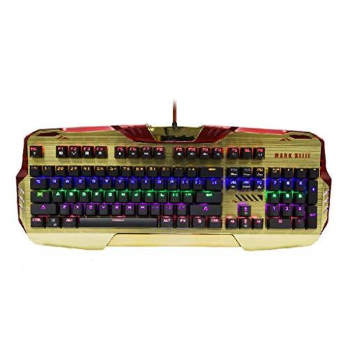 DYY Mechanisch Toetsenbord Volledige sleutel Geen Conflict Knop Snelheidsaanpassing Meerdere Backlight Instellingen PC Computer USB Bedraad Spel Echt Mechanisch Toetsenbord