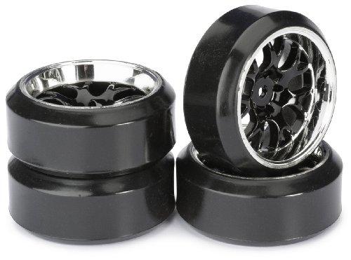 Absima – Wheel Set Drift LP Comb/Profile C Black/Chrome 1 : 10 (4 Pcs) (2510042)