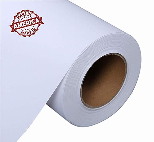 Canvas Roll for Wide Format Inkjet Printer, Polyester Paper Roll for Epson Canon HP Plotter 300gsm, 36