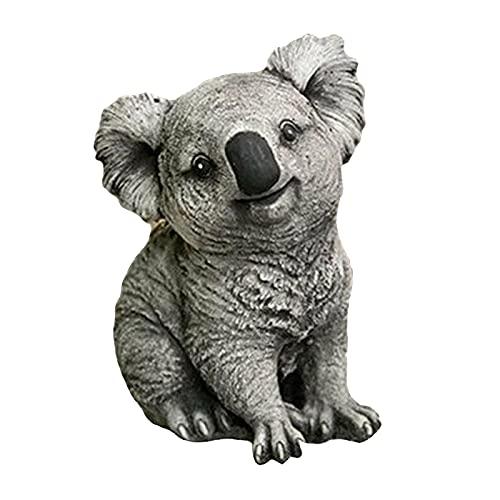 Gazechimp Garten Statue Harz Handwerk Koala Figur Skulptur Patio Hinterhof Dekor