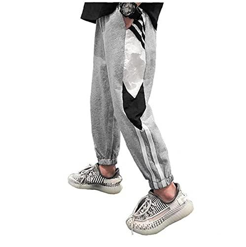NIDONE Chicos Casuales Sweetpants Jogging Chándal Pantalones Deportivos Pantalones Pantalones con Bolsillos Gris 150 cm