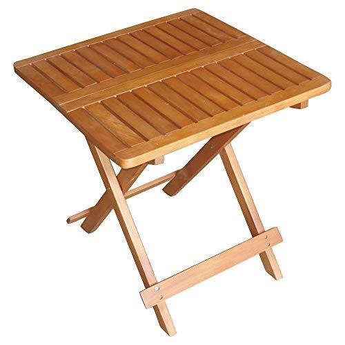 Außen Bistro Tisch Holz Akazie geölt braun Garten Balkon Terrassen Möbel eckig klappbar Harms 960301