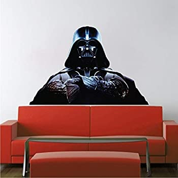Vader Wallpaper Sticker Home Decor - Darth Vader Star Wars Wall Mural Design Movies Wall Decor Office Rooms Kids Nursery Removable Decor for Apartment Dorm Rooms b31