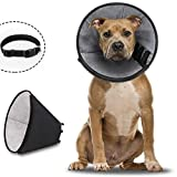 Dog Cone Soft Dog Cone Collar After Surgery,Adjustable Protective Dog...
